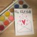 """Selbstgemachte Postkarte mit der Aufschrift """"Du bist toll"""""""